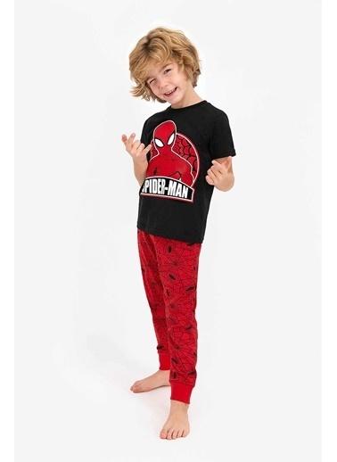 Spider-Man Spider Man Lisanslı Siyah Erkek Çocuk Kısa Kol Pijama Takımı Siyah